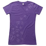 Climblements Mädels Butterfly Purple T-Shirt, S, violett