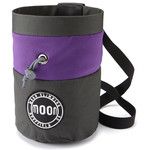 Moon Climbing S7 Retro Chalk Bag, grey/maroon