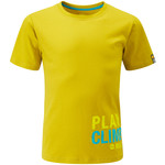 Moon Climbing Half Moon Play Hard T-Shirt für Kinder, 3-4 Jahre, lemon curry
