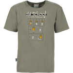 E9 Old School T-Shirt, S, grey
