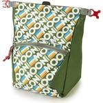 Moon Climbing Bouldering Chalk Bag, retro stripe green