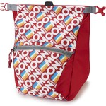 Moon Climbing Bouldering Chalk Bag, retro stripe true red