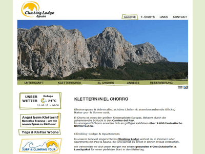 Screenshot Klettern in Spanien