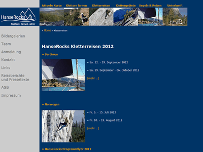 Screenshot von hanserocks.com